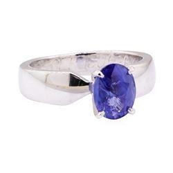 2.04 ctw Blue Sapphire Ring - Platinum