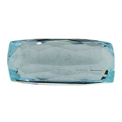 7.23 ct.Natural Cushion Cut Aquamarine