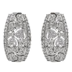 14k White Gold 0.68CTW Diamond Earrings, (SI3/G-H)