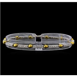0.56 ctw Diamond Bracelet - 18KT White and Yellow Gold