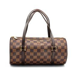 Louis Vuitton Damier Ebene Canvas Leather Papillon 30 Bag