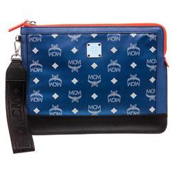 MCM Blue Nylon Resnick iPad Case