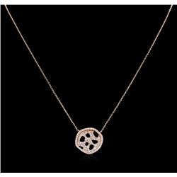 0.77 ctw Diamond Necklace - 14KT Rose Gold