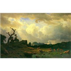 Thunderstorms in the Rocky Mountains by Albert Bierstadt