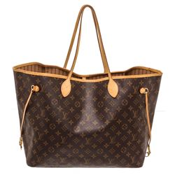 Louis Vuitton Monogram Canvas Leather Neverfull GM Tote Bag