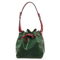 Louis Vuitton Green Epi Leather Noe PM Drawstring Shoulder Bag