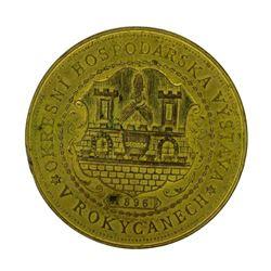 1896 Czechoslovakia Gilt Bronze Exhibition Medal