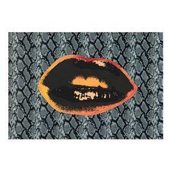 Lips by Steve Kaufman (1960-2010)