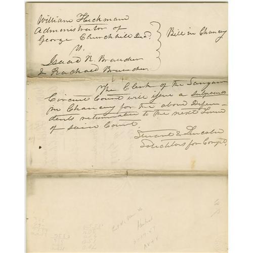 Lincoln Partner, John Todd Stuart. Autograph Lincoln Law ...