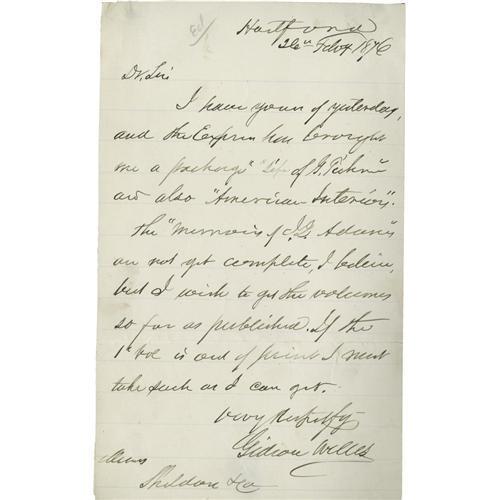 Gideon Welles Signature on a War Letter Gideon Welles: A War ...