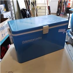 BLUE METAL COLEMAN LOW BOY COOLER