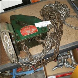 FUTABA SPEED WORM GEARED CHAIN BLOCK 1 TON CAPACITY 8FT LIFT