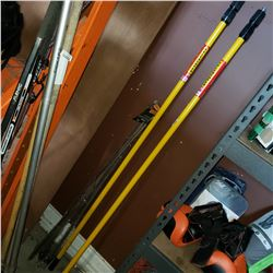 4 NEW AWNING EXTENSION POLES AND 2 TELESCOPIC EXTENSION POLES