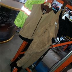 CARHARTT VEST AND TOUGH DUCK OVERALLS SIZE M