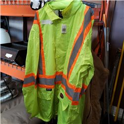 PIONEER 3XL HI VIS RAIN JACKET AND PANTS