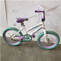PURPLE WHITE ROAD RACER KIDS BIKE