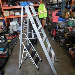 5FT ALUMIUM LADDER AND STEP LADDER