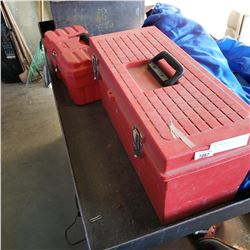 2 RED TOOL BOXES
