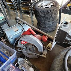 RELIANCE 1/2 HP ELECTRIC MOTOR AND SKILSAW