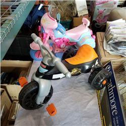 FISHER PRICE HARLEY DAVIDSON KIDS TRIKE AND KIDS RIDE ON MOTORCYCLE TOY