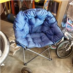 LARGE BLUE FOLDING CAMPING CHAIR