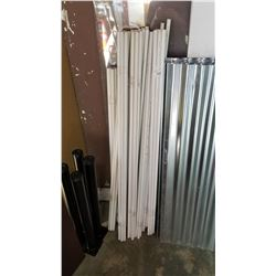 """LOT OF METAL PIPES APPROX 50"""" LONG"""