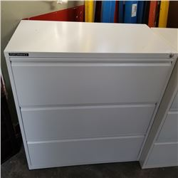 PERFORMANCE GREY 3 DRAWER LATERAL FILING CABINET