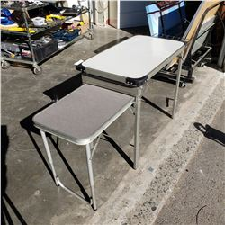 FOLDING CAMP COOKING PREP TABLE