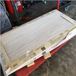 BOX OF WHITE PALI LUC ITALIAN PORCELAIN TILE 24 x 48 INCH, 3 TILES PER BOX - RETAIL $49 PER TILE AND