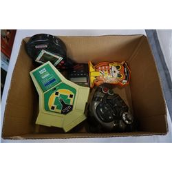 BOX OF VINTAGE ELECTRONICS GAMES