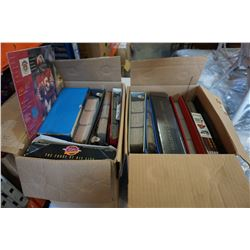 2 BOXES OF SPORTS CARD BINDERS HOCKEY AND OTHER CARDS