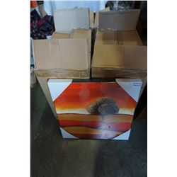7 BOXES OF DECORATIVE ART ON BOARD