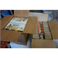 CASE OF 1995 REPRINT PARKHURST 1966-67 HOCKEY CARDS AND BOX OF HOCKEY CARDS