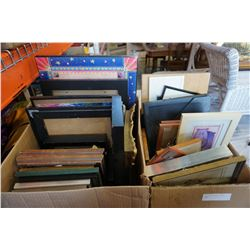4 BOXES OF VARIOUS PICTURE FRAMES