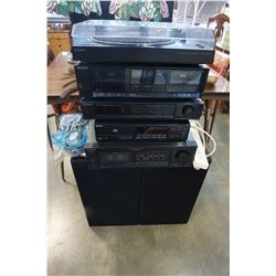 SONY 5 PIECE STEREO COMPONENT SYSTEM W/ 2 SPEAKERS