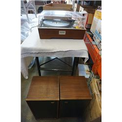 CLARITONE RECORD PLAYER, PAIR OF WHARF DALE SPEAKERS