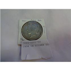 1934 US SILVER DOLLAR