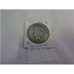 1923 US SILVER DOLLAR