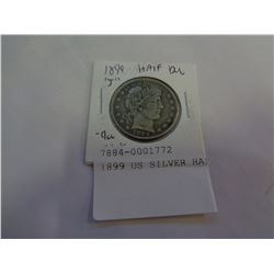 1899 US SILVER HALF DOLLARS