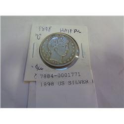 1898 US SILVER HALF DOLLARS
