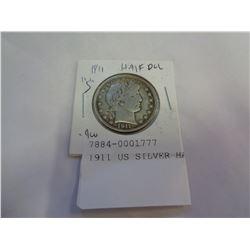 1911 US SILVER HALF DOLLAR