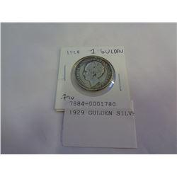 1929 GULDEN SILVER COIN