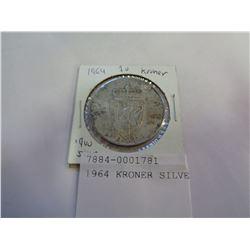 1964 KRONER SILVER COIN