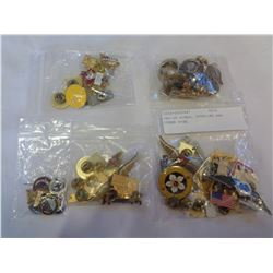 BAG OF RINGS, STERLING AND OTHER PINS