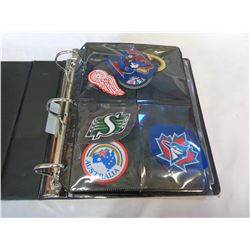 BINDER OF PATCHES AND STICKERS
