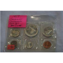 1967 CANADIAN CENTENNIAL COIN SET .800 SILVER