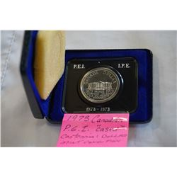 """1973 CANADIAN P.E.I """"CASED"""" CENTENNIAL DOLLAR MINT CONDITION"""