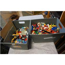 2 BINS OF LEGO
