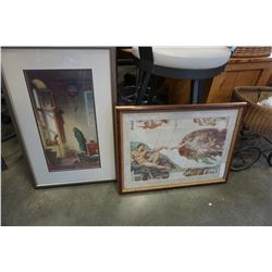 MICHELANGELO THE CREATION OF ADAM PRINT AND WATCHMAN PRINT