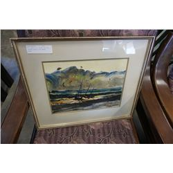 PRINT BY AJ CASSON IN GOLD FRAME